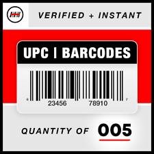 (5) UPC EAN Barcodes Codes Numbers - GS1 - Amazon Verified - Product ID 🔥