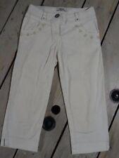 Pantalon droit blanc avec des perles transparentes Shiny Taille 4 Ans / 102 cm