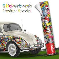 Stickerbomb Auto-folie für Car-wrapping mit Luftkanälen Marken,Logos Auto-Dress®