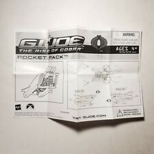 GI Joe Rocket Pack Vehicle 2009 Blueprints Rise Of Cobra