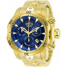 Invicta Men's Watch Venom Chronograph Blue Dial Yellow Gold Bracelet 29643