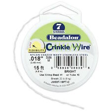 "Crinkle Wire 7-Strand .018""(.46mm) Diameter 15ft/Spool silver by Beadalon"