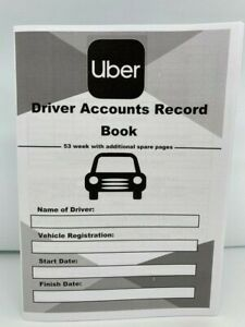 UBER Taxi Driver Accounts Record Book