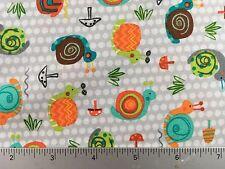 Creatures & Critters 3 Snails- Robert Kaufman AAS-15142 269 Park - Cotton Fabric