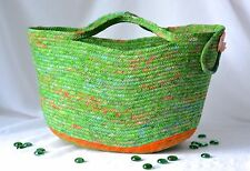 Fall Tote Bag, Handmade Gift Basket, Picnic Tote Basket by Wexford Treasures