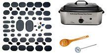 Massage Hot Stone Kit 60 Piece with 18 Quart Warmer