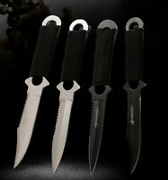 Outdoor 4pcs Stainless Steel Fixed Blade Knife With Bag Throwing Knife Hunting