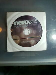 Nero 2015 Platinum Installation Disc Complete With Activation Code