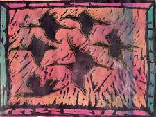""" FLYING"" by RUTH FREEMAN  MIXED MEDIA 8 1/2"" X  11 1/4"""