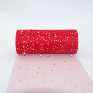 "Glitter Sequin Tutu Tulle 6""x10 Yard Spool Wedding Decoration Organza Craft DIY"
