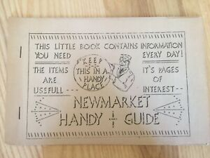 Vintage 1937 Pamphlet of Newmarket New Hampshire Handy Guide Welcome Committee