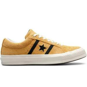 Converse Mens One Star Academy Ox Almond Black Striped Suede Lace Up Trainers