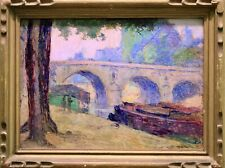 VICTOR MARECHAL (1879-c.1950) SIGNED FRENCH IMPRESSIONIST OIL PONT NEUF PARIS