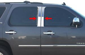 2007-2014 Chevy Suburban/Avalanche/Yukon XL Chrome Pillar Post Stainless Trim