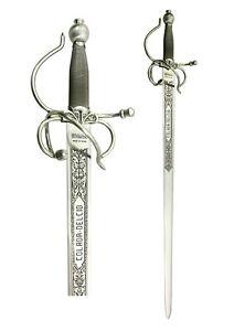 Spada medievale da collezione in acciaio forgiato a mano a Toledo L 103 cm