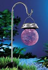 Solarleuchte Solarlampe Solarkugel Weiß Farbwechsel Bruchglasdesign >>NEU<<