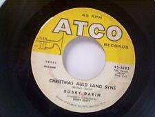 """BOBBY DARIN """"CHRISTMAS AULD LANG SYNE / CHILD OF GOD"""" 45"""