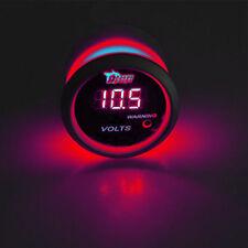 """2"""" 52mm Black Shell Car Truck Digital Red LED Volt Voltage LED Gauge Kit"""