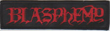 Blasphemy - Logo Patch Black Death Metal Bathory Venom Deicide Revenge Archgoat