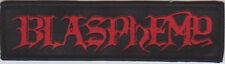 Blasphemy - Logo Patch Black Death Metal Bathory Venom Deicide Revenge Archgoat