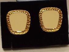 Avon Summer Style White Clip Earrings