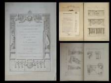MATERIAUX ET DOCUMENTS D'ARCHITECTURE - N°1-3 - 1872 - BALUSTRADE, CONSOLE