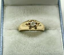 Vintage Lovely 14ct Gold And Diamond Solitaire Ladies Ring