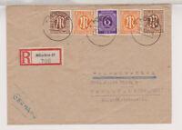 Bizone/AM-Post, Mi. 6x, 2, 5, MiF 916, R-München 27 (apt) - Frankfurt 20.2.46