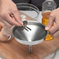 Stainless Steel Funnel With Detachable Strainer Liquid Generic Style Funnel