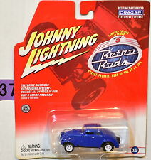 JOHNNY LIGHTNING RETRO RODS '33 WILLYS #15 WHITE LIGHTNING BAD CARD