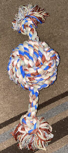 Huge Toss and Play Knotted Ball Rope tug dog toy Large Breed