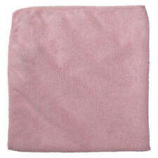 """RUBBERMAID COMMERCIAL PRODUCTS 1820581 Microfiber Cloth,16"""" x 16"""",Red,PK24"""