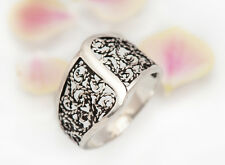 NUOVO Originale solido 925 Argento Sterling BALI ring, Orientale, Boho SZ. 53.5mm N 1/4