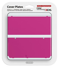 3DS-Nintendo Official Cover Plate for New 3DS - Pink /3DS  (UK IMPORT)  GAME NEW