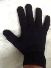 Boys Girls Teens Ladies one size Black knitted Gloves