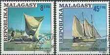 Timbres Bateaux Madagascar 576/7 o lot 15065