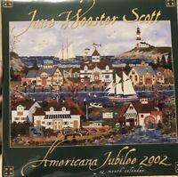 2002 JANE WOOSTER SCOTT SEALED FOLK ART American Jubilee WALL CALENDAR Project