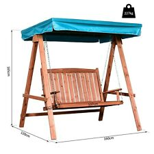 Outsunny Garden Hammock Swing Chair 2-Seater Bench w/ Canopy Patio Outdoor