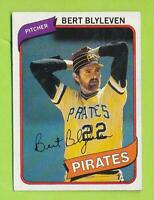 1980 Topps - Bert Blyleven (#457)  Pittsburgh Pirates