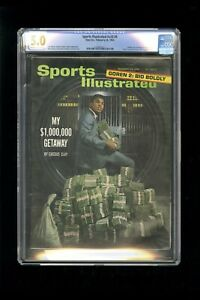 """SPORTS ILLUSTRATED NEWSSTAND 1964 CASSIUS CLAY """"ALI"""" CGC 5.0 SECOND COVER"""