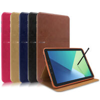 """Smart Cover Leather Sleep/Wake Stand Case For Samsung Galaxy Tab A 10.1"""" SM-P580"""