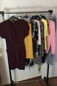 Womens Ladies Clothes Bundle Size 8 Dress Sweater Blouse Shirt Crop Top Pants H7