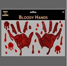 Bloody Hand Window Gels Halloween. Decoration.