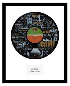 LED ZEPPELIN - MEMORABILIA - VINYL RECORD LYRIC ART - Stairway to Heaven