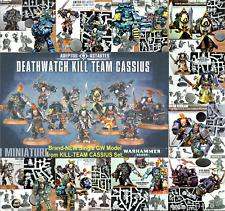 KILL-TEAM CASSIUS: Single DEATHWATCH SPACE MARINES~Games Workshop: WARHAMMER 40K