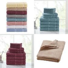 10 Piece Towel Set 100% Cotton Bath Towels Wash Cloths Hand Dry Absorbent Soft