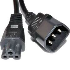 IEC Plug C14 to Cloverleaf Plug C5 Converter Adapter Cable 15cm
