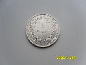 BELGIUM - SILVER 1 FRANC 1912