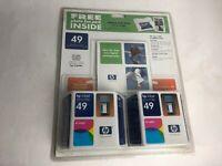 HP Inkjet Printer Cartridge 49 Tri-Color 2 Pack