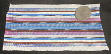 "Dollhouse Miniature White Backstrap Guatemala Blanket Rug @ 3X5"" Southwest #2"